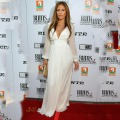 Custom Made Jennifer Lopez 2017 White Long Sleeve V Neck Prom Dresses The Oscars Celebrity Dresses Red Carpet Evening Dresses