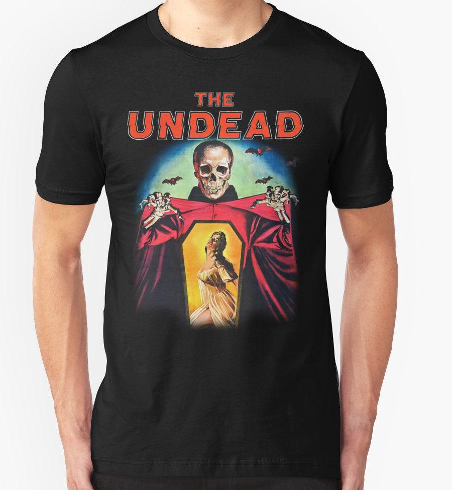 THE UNDEAD T SHIRT 1950'S MOVIE FILM HORROR RETRO VINTAGE BIRTHDAY PRESENT T-Shirt Men Short Sleeve T Shirt Fashion