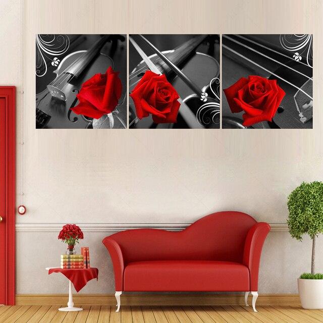 Wandbilder Für Wohnzimmer Restaurant Malerei Moderne Startseite Red Rose  Bild Gemälde Dekoration Druck Auf Leinwand (