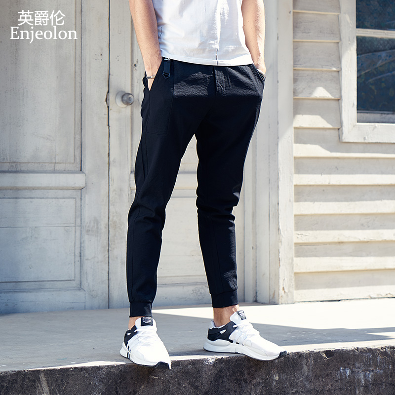 Enjeolon Brand Sweatpants Men Long Trousers Pants Men High-quality Pants Males Fashion Causal Clothes Plus Size 3XL KZ6160