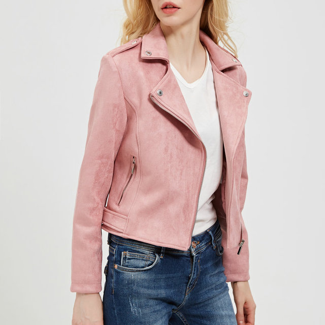 Pink Leather Jacked