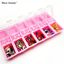 12 Grids Acrylic Nail Rhinestone Container Box Tiny Decorations Beads Metal Decoration Storage NBU