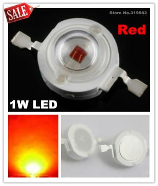 50pcs/lot, 1W Red led beads, high power red light beads, red led source, LED Diodes Lamp Beads, (No: GH-1W-R ) freeshipping