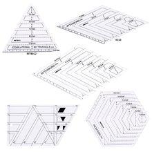 5 ピース/セットキルティングミシンパッチワーククラフトスケール定規三角diy手作りテーラーホームツール