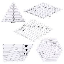 5pcs/set Quilting Sewing Patchwork Craft Scale Ruler Triangle DIY Handmade Tailor Home Tools
