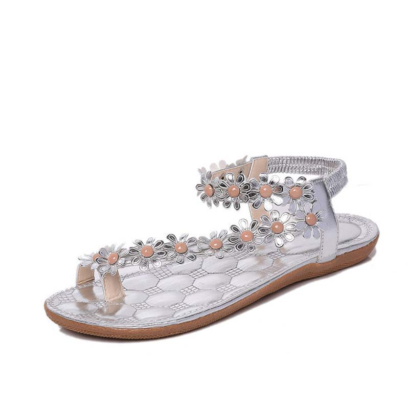 Xemonale Women Casual Shose 2017 Fashion Summer Women Sandals Shoes Flowers Beaded Beach ...