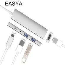 EASYA USB Type C Hub To HDMI Adapter 4K Multi-Port Hub Converter Thunderbolt USB-C Dongle Dock PD Pass Charging For MacBook Pro
