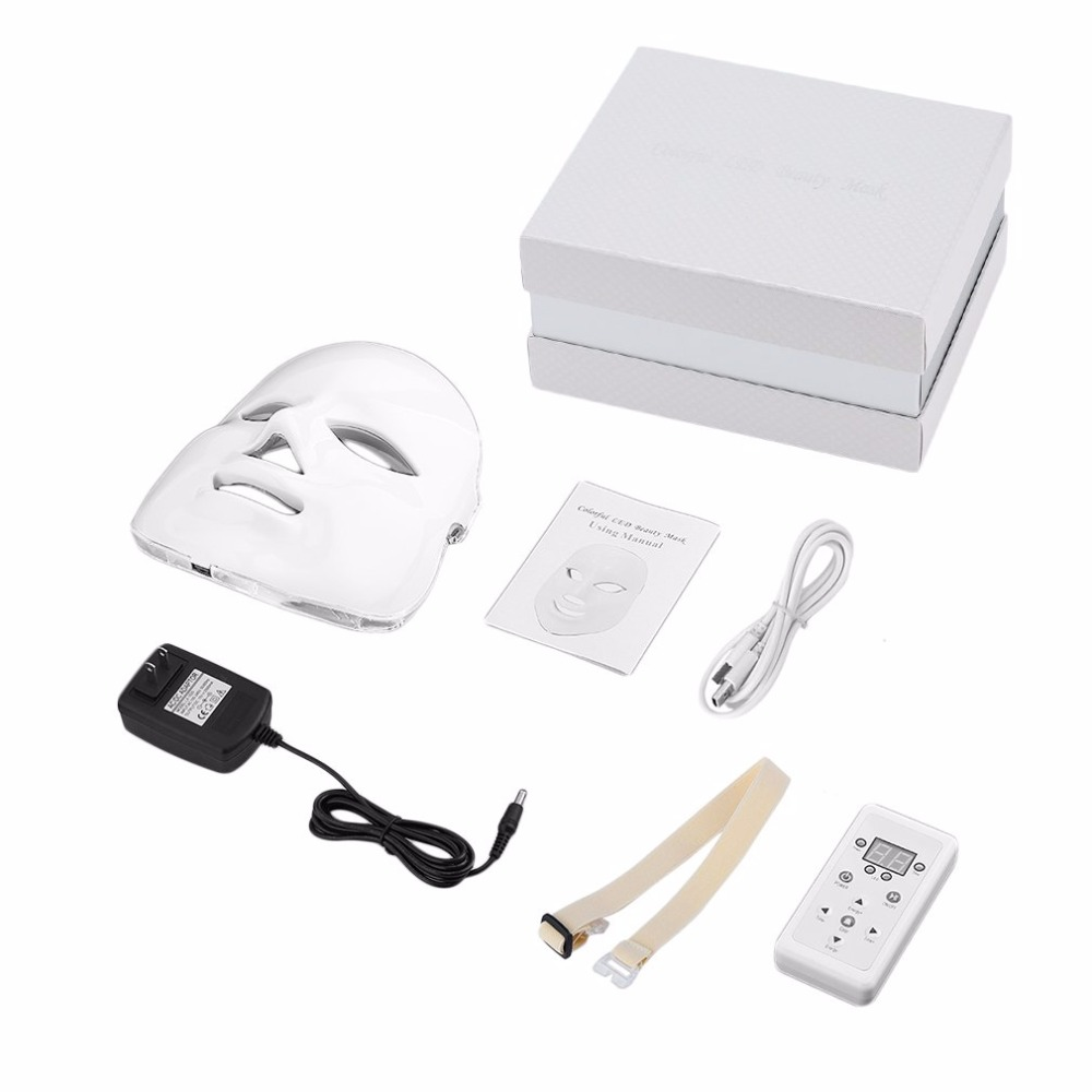 цены Korean Photodynamic LED Facial Mask Home Use Beauty Instrument Anti acne Skin Rejuvenation LED Photodynamic Beauty Face Massager