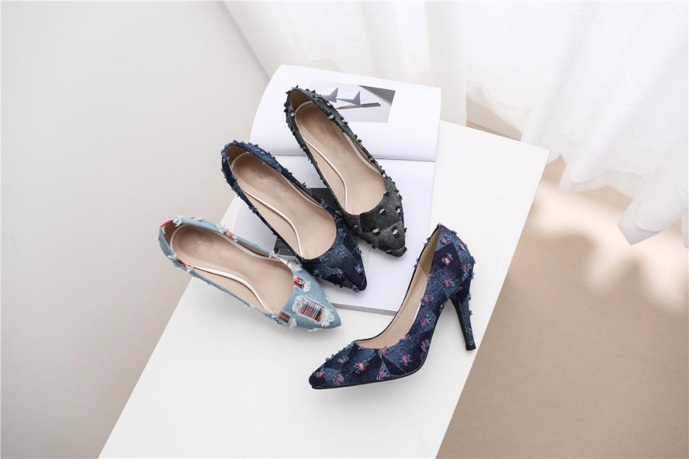 8ffa62ff6c218f Jiabaisi chaussures Femmes sandale d'été Bout rond super Haute Talon Satin  diamants boucle Stylet De Mariage Partie De Base Chaussures femmeUSD  42.00/pair
