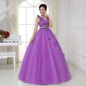 Image 3 - Sexy V hals Sheer Terug Crystal Kralen Light Purple Quinceanera Jurken Baljurken Blauw Prinses Prom Dresses Vestido Debutantes