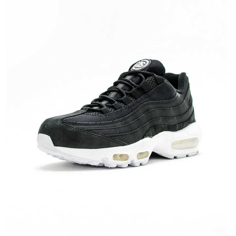 on sale 59e68 07200 Nike Air Max 95 Stussy Men's Running Shoes, Black ,Damping Anti-slip Wear  Resistance Breathable Increase 834668 001