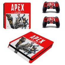 APEX Legends PS4 Slim Skin Sticker Vinyl For PlayStation 4 Console and Controllers PS4 Slim Skin Stickers Decal Accessory
