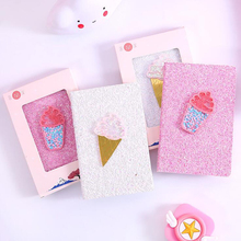 Kawaii Ice Cream School Office Supplies Stationery Notebook For Girl Flash Pink Business Diary Journal Writing Note Book Gift