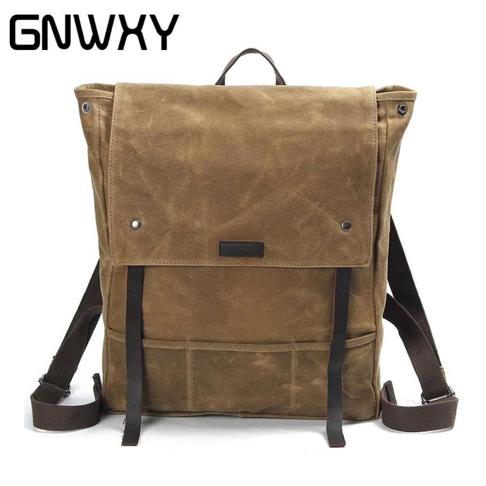 GNWXY Fashion Women Bags Canvas Backpack Men Oxford Travel Leisure Backpacks Retro Casual Backpacks School Bags For Teenagers jaragar 6 hand day date stainless steel band automatic mechanical male wristwatch mens clock reloj hombre