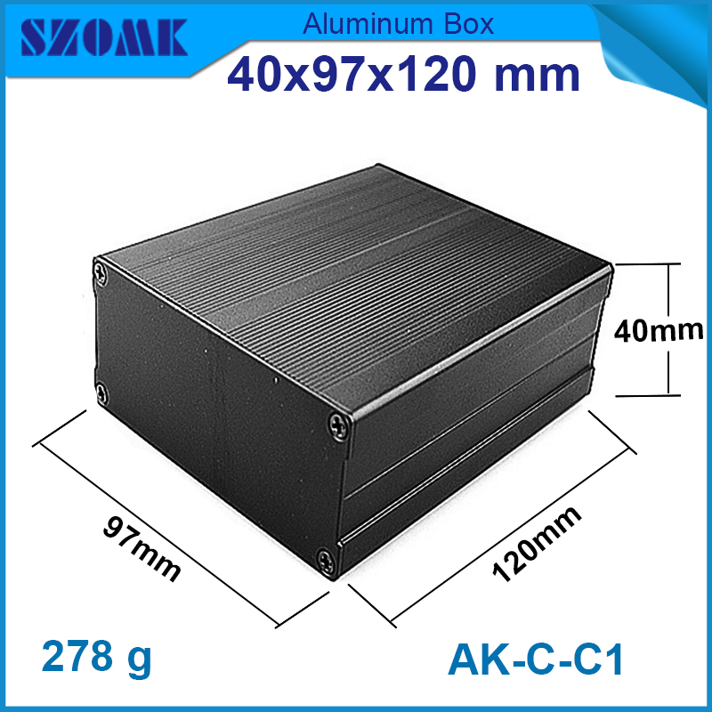 1piece free shipping Black and silver color  free shipping electronics 40(H)x97(W)x120(L)box aluminium circuit breaker box free shipping skates bag h 50cm w 36cm black color