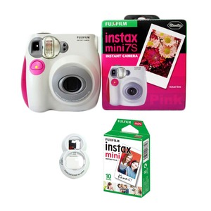 Image 2 - 100% Authentic Fujifilm Instax Mini 7s Instant Photo Film Camera, with 10 Sheets Fuji Instax Mini White Film and Selfie Lens