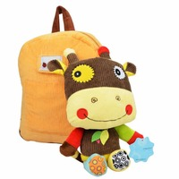 KUDIAN BEAR Animal Plush Baby Backpack Children Bag Toys For Kids With Dolls 2 5 Years