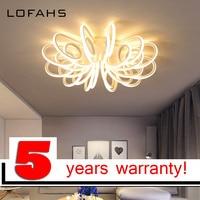 LOFAHS modern led chandelier For Large Hall Meeting room Lobby aluminum high brightness ceiling chandelier lighting PY 1028