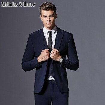 N&B Men's Suit Business Formal Tuxedo 2019 Slim Fit Groom Suit Wedding Suits for Men Large Dresses Latest Coat Pant Designs SR12