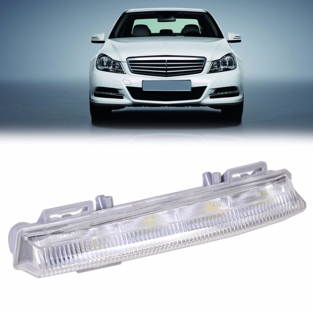 New Left Side Fog Light Daytime Running Lamp 2049068900 204 906 89 00 Fit for Mercedes Benz W204 S204 W212 R172 2011 2012 2013 july king 1pc left driver side fog light lamp case for mercedes benz r171 w164 w203 w204 w216 w230 w253 amg aftermarket