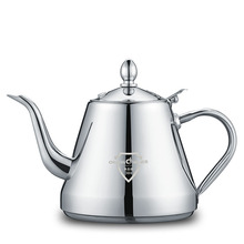 Thicker 304 Stainless Steel Water Kettle High Quality Induction Cooker Tea Kettle Fashion Tea Pot Coffee Kettle 1.2L 1 2l 304 stainless steel high quality flat tea pot coffe drip kettle induction cooker water kettle hot water for barista