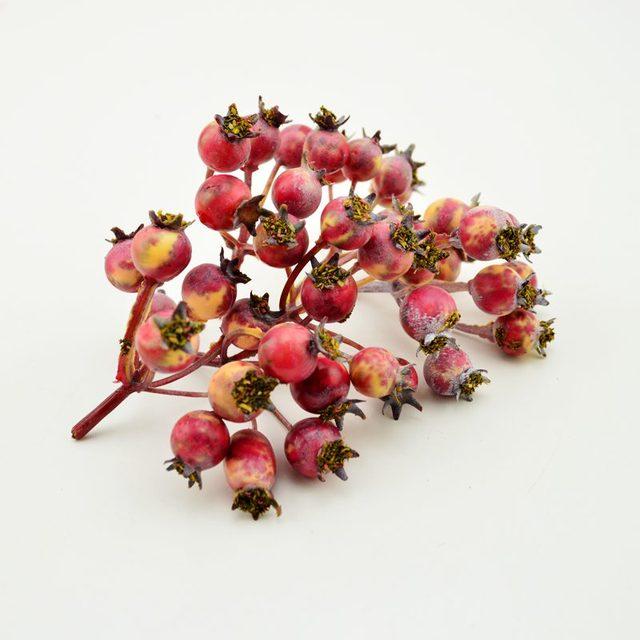 1 pz (6-7heads) MINI ciliegia Falso bacche di Frutta Artificiale Fiori Stame bou