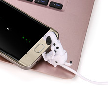 overma Newest Top sale Mini Humping Cute Spot Dog Toy Smartphone Cable Charger Data 1M Charging Line for For SamsungPortable