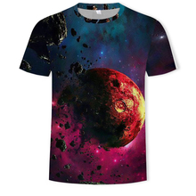 2019 New T shirt Space funny 3d t-shirt hip hop mens clothing china galaxy chinese