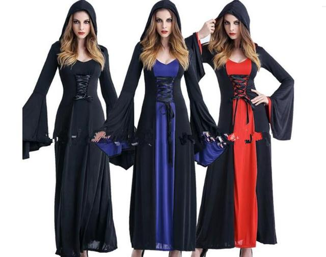 Medieval Vampire Halloween Witch Fancy Dress Costume Plus Size New