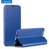X Level Fashion Slim Leather Soft TPU Flip Case For Huawei P10 Luxury Brand Phone Case