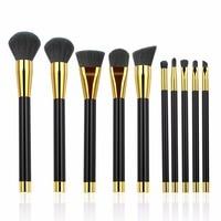 BESTOPE 10pcs Makeup Brushes Set Foundation Eye Shadow Blush Eyebrow Mascara Face Powder Brush Kit Blending