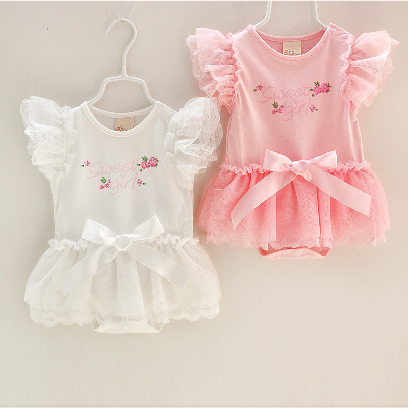 Super nice newborn baby girl clothes sweet Lace Princess ...