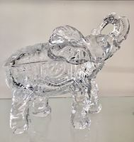 Giant Glass Elephant Home Furnishing Articles Christmas Gift Crystal Elephant