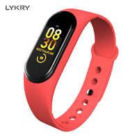 LYKRY M4A Smart Bracelet Heart Rate Blood Pressure Health Smart Watch Bluetooth Wristband Fitness Tracker PK Mi Band 4