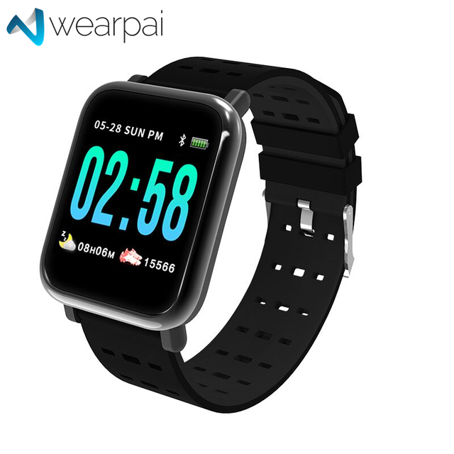 Wearpai A6 blood pressure Smart Bracelet large color screen fitness tracker Step Counter Activity Monitor smart watch for sport