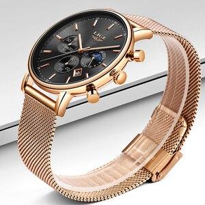 Image 3 - 2020 Nieuwe Vrouwen Gift Klok Luik Fashion Brand Quartz Horloge Dames Luxe Rose Gouden Horloge Vrouwelijke Horloge Vrouwen Relogio Feminino