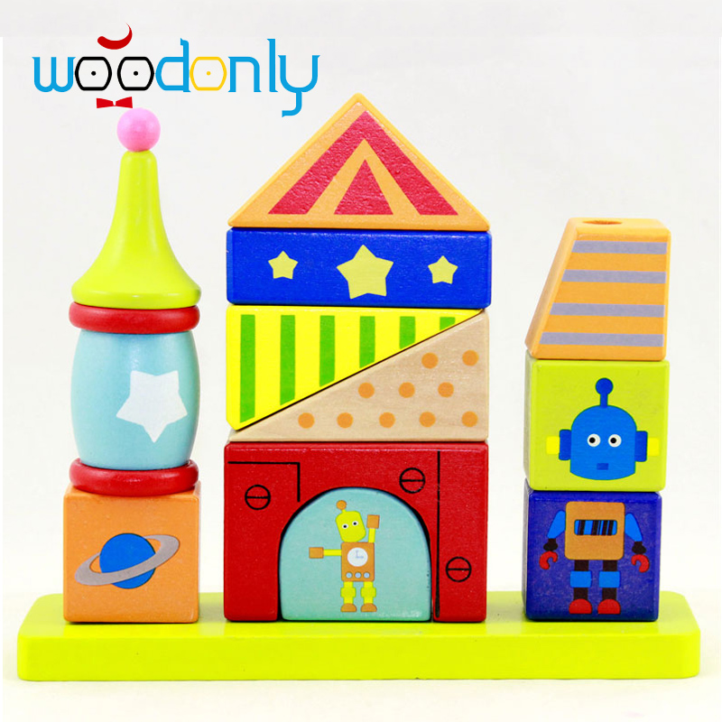 Baby Wood Building Blocks Chopping Wooden Block Children education Montessori Tower Set Baby toys oyuncak 2017 montessori education baby wood knocking ball ladder pound and roll tower kids puzzle early educational wooden toys set mz23