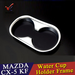 Image 5 - WENKAI For Mazda CX 5 CX5 2017 2018 ABS Water Cup Holder Frame Decoration Cover Trim 1pcs Car Accessories Styling!
