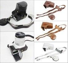 Новый роскошный PU кожа Камера сумка для Canon EOS 200D Камера чехол с ремешком мини Чехол Съемный Батарея Дизайн