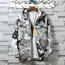 zozowang camouflage Bomber Jacket Men Hip Hop Slim Fit Flowers Pilot Bomber Jacket Coat Men's Hooded Jackets Plus Size XS-4XL недорого