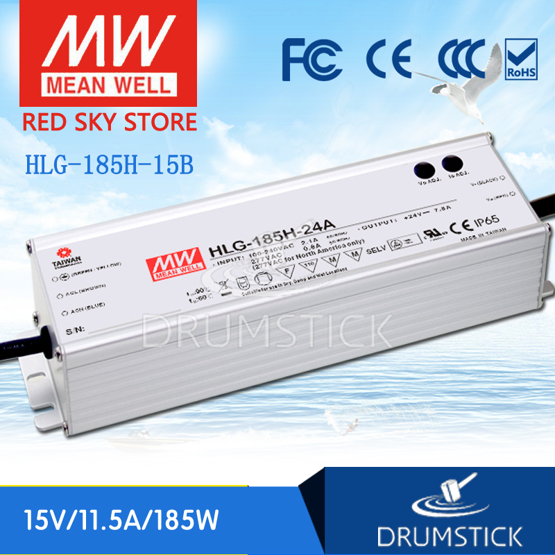 все цены на Advantages MEAN WELL HLG-185H-15B 15V 11.5A meanwell HLG-185H 15V 172.5W Single Output LED Driver Power Supply B type