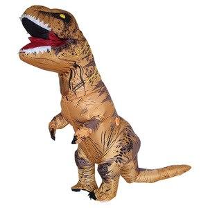 Image 4 - מתנפח דינוזאור T REX ליל כל הקדושים תחפושות למבוגרים ילדים נשים גברים פיצוץ טריצרטופס מלא גוף קרנבל קוספליי מסיבת קמע