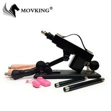 MOVKING 3 ディルド添付ファイルでセックスマシン女性のオナニーポンプ銃自動ためのセックスマシーン女性セックス製品