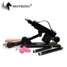 MOVKING Sex Maschine Weibliche Masturbation Pump Pistole mit 3 Dildos Anhänge Automatische Sex Maschinen für Frauen Sex Produkte