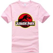 Summer men's T-shirt new JURASSIC PARK printed cotton T-shirt top casual brand pattern T-shirt hipster shirt(China)