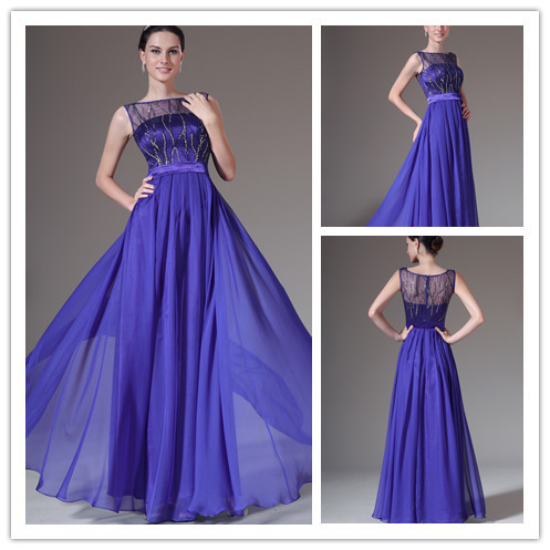325 Sale Royal Blue Simple Elegant Evening Gown Gala Evening Gowns