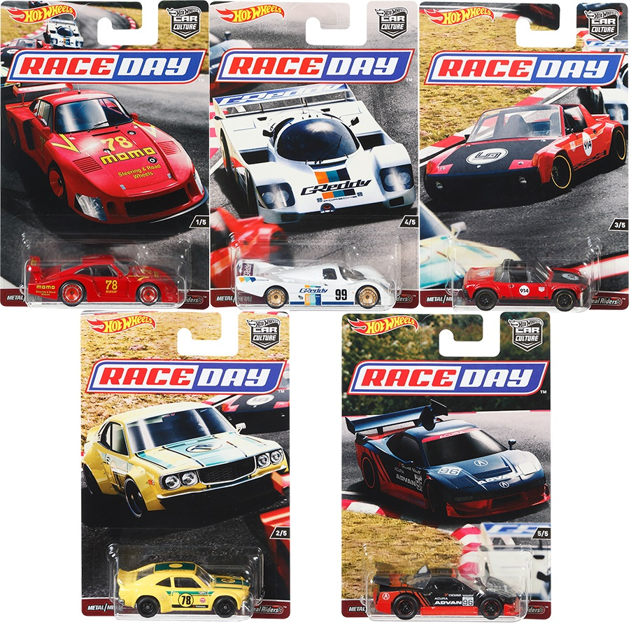 Hot Wheels Car 1:64 Car Culture Race Day MAZDA  ACURA Collector Edition Metal Diecast Model Car Kids Toys Gift