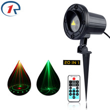 ZjRight IR Remote Red Green 20 patterns laser light Waterproof Outdoor garden gala party effect lights Bar dj disco stage lights
