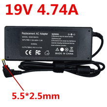19V 4.74A 5.5X2.5mm AC Power Adapter Laptop Charger For Toshiba C50 C55 C650 C655 C660 C665 C850 C855 E100 E105 L100 45w 19v ac power adapter charger for toshiba satellite c55 a5281 new genuine []