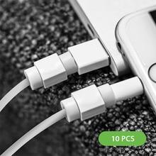 10個ミニかわいいシリコーンusbケーブルプロテクターデータラインコード保護ケースケーブルワインダーiphone 5 6 6s 7プラス8ケーブル